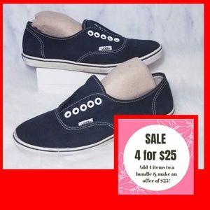 ❤4 for $25❤ Vans Black Sneakers Slip On 7.5 Shoes